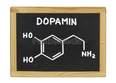 chemical structural formula of dopamine on