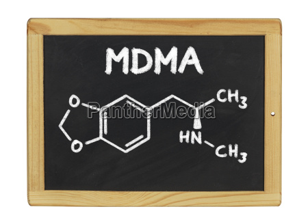 chemical structural formula of mdma on