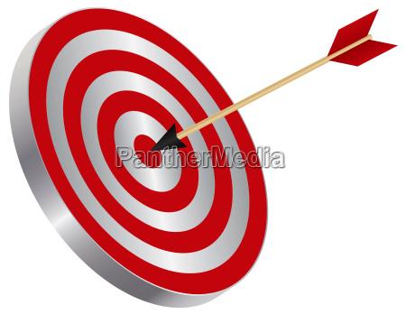 arrow on target bullseye illustration