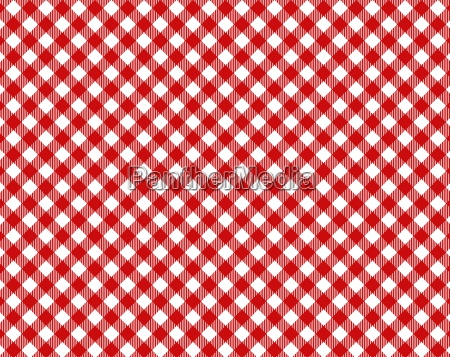 checkered tablecloth with diagonal pattern in