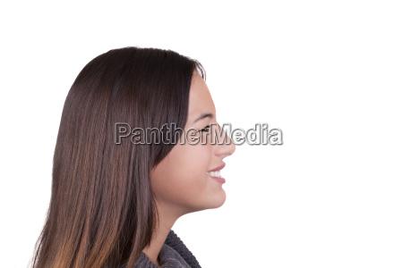perfil risadinha sorrisos adolescente retrato horizontalmente