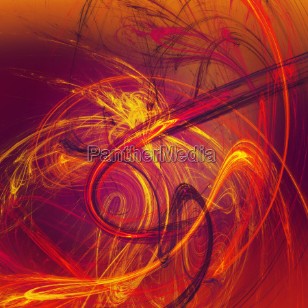 abstract art red chaos
