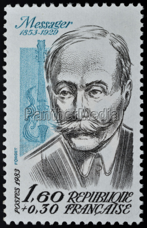 stamp with andre messager