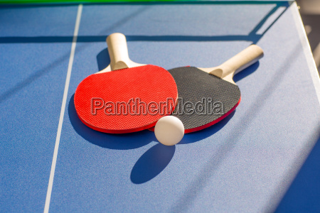 table tennis ping pong two paddles