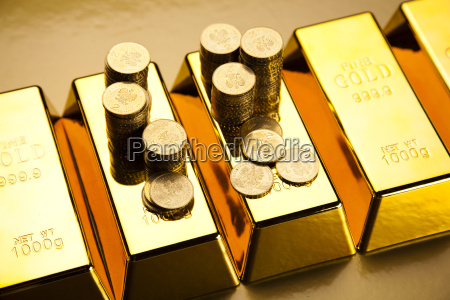 finance concept coins