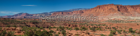 panorama of capitol reef national park