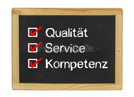 quality service and competence