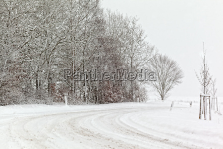wintry roads