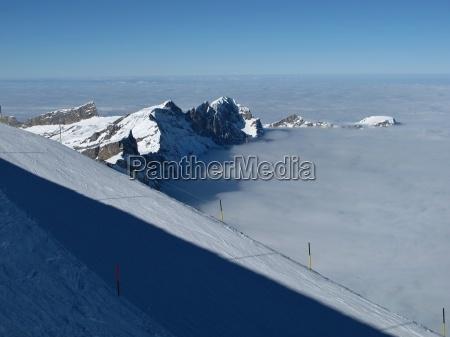ski slopes on the titlis mountains