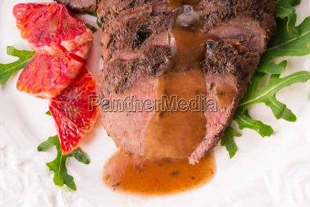 crunchy ducks breast with orange and