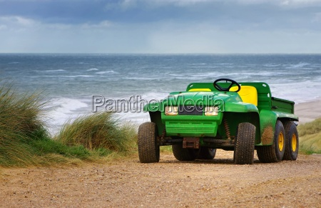 beach buggy in the dunes on