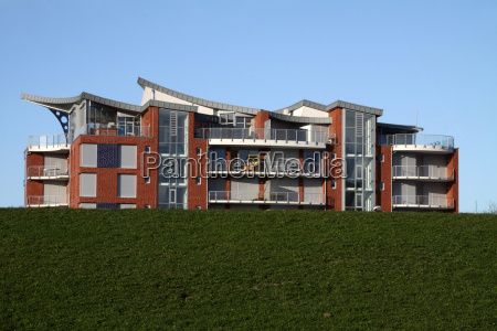 modern residential building in cuxhaven