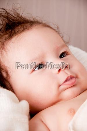 sweet little baby child newborn with