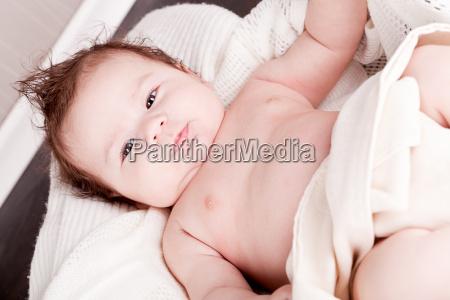 little cute baby child newborn with