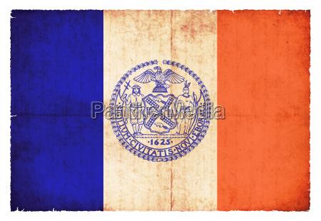 grunge flag new york city usa