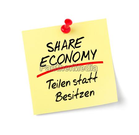 sticky note share economy