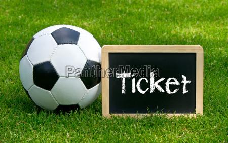 football ticket soccer ticket