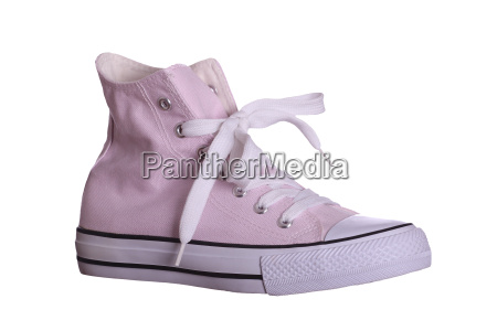 pink sneaker isolated