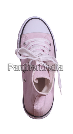 topview of pink sneaker isolated on