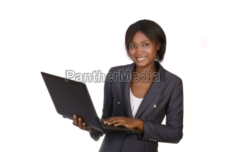 african businesswoman with notebook