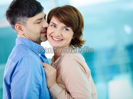 flirty kiss