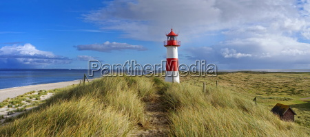 landscape panorama with lighthouse on sylt