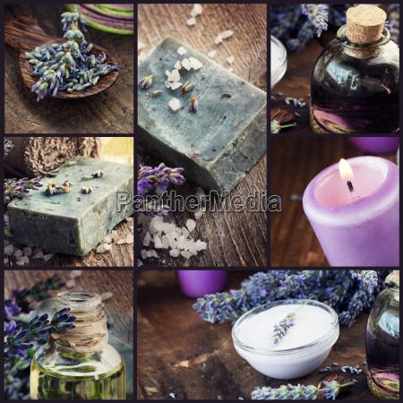 lavender dayspa collage