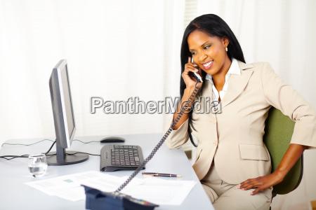 professional female on phone