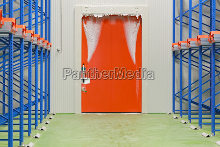 warehouse freezer door