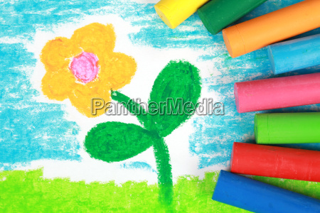 childrens picture of a flower on