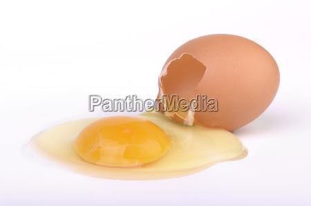 raw broken egg