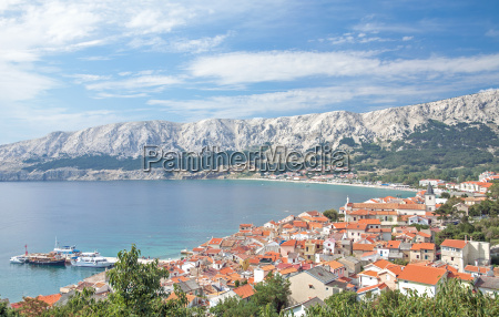 resort baska on the island krk