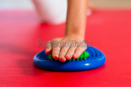 ppatientin at physiotherapy