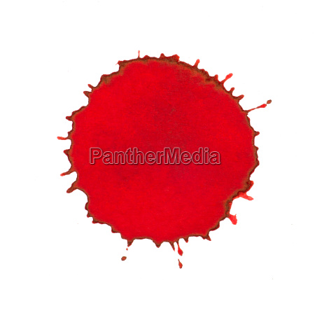 red ink splashes