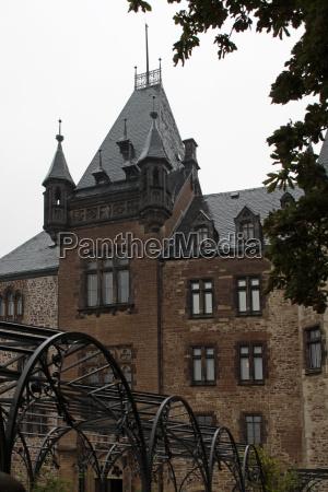 wernigerode castle in the rain
