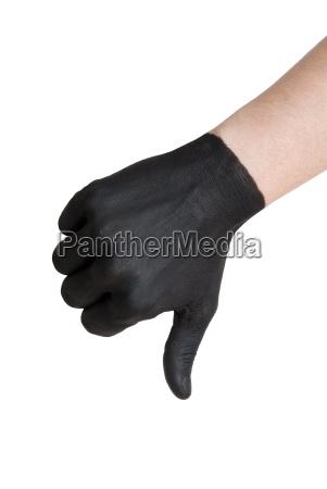 black thumb down