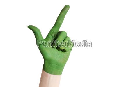 green hand showing okay