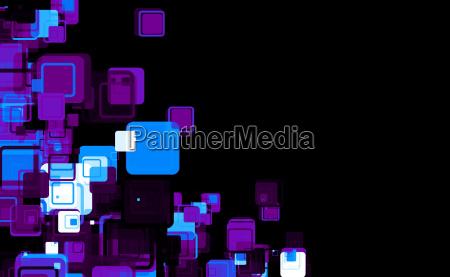 cube matrix blue violet black