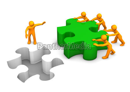 big puzzle teamwork