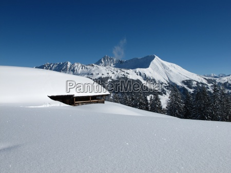 mountain named lauenenhorn and snow covered