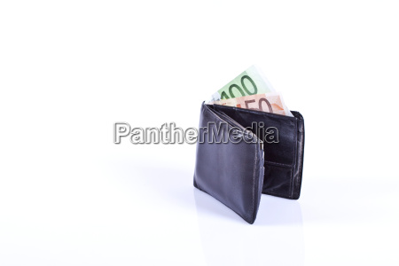 wallet with lots of money