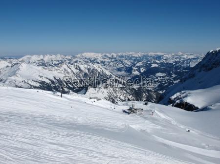 chair lift on the glacier de