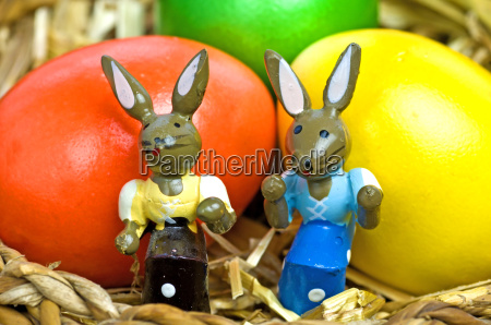 easter bunny on school desk with