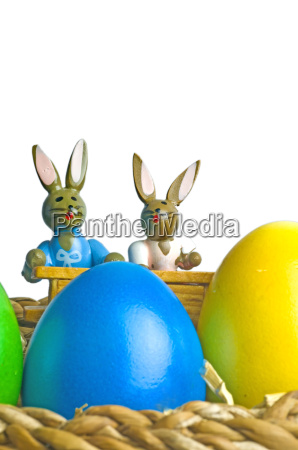 easter bunny on school bench with