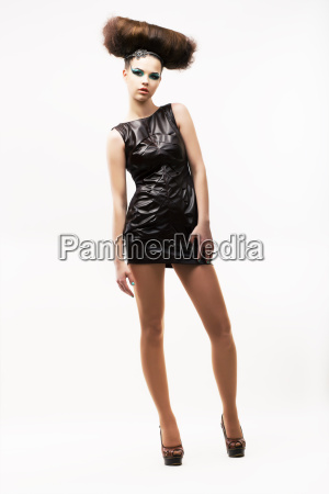 individuality exquisite modern woman standing in
