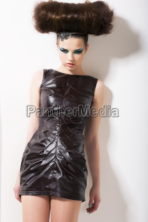 alien extravagant teenager girl with alternative