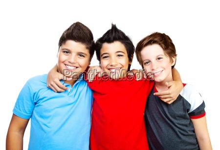 happy boys teenagers best friends