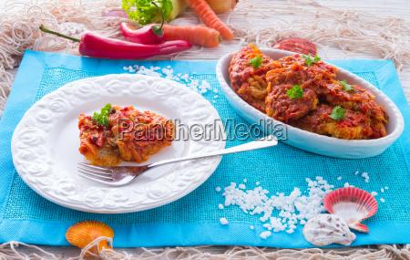 pez en griego ninyo con verduras