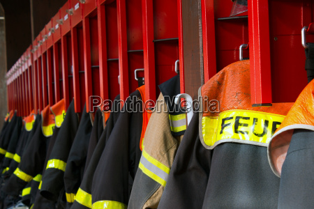 protective clothing of german firefighters