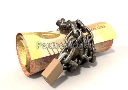 rand oramge shackled padlock nest egg